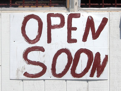 Open Soon Sign