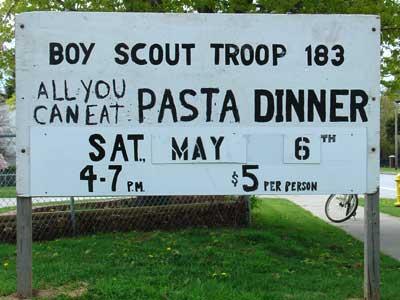 Pasta Dinner Sign