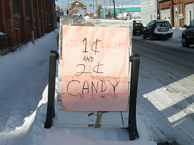 Penny Candy sign