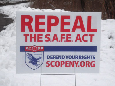 Repeal Safe Act sign
