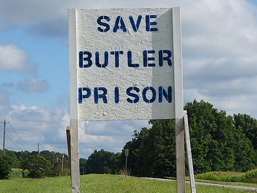 Save Butler Prison Sign