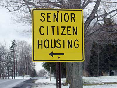 Senior Citizen Housing sign
