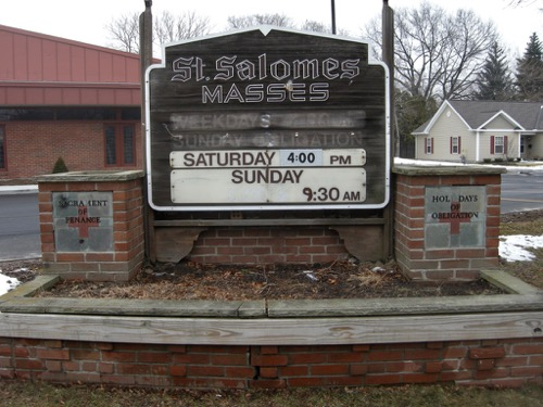 St Salome's Sign