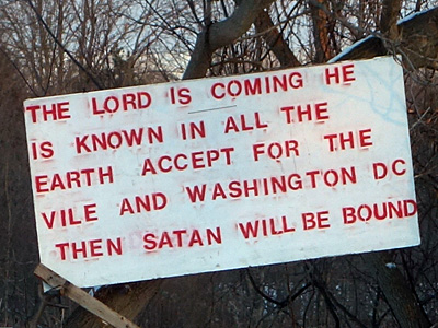 The Lord Is Coming sign
