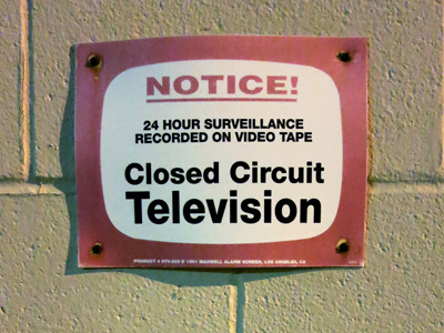 Closed Circuit TV sign