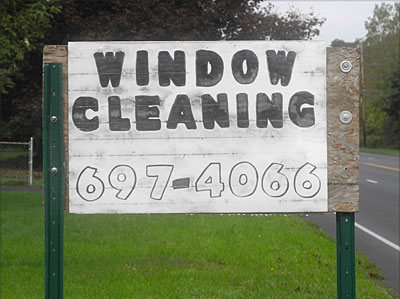 Window Washing sign