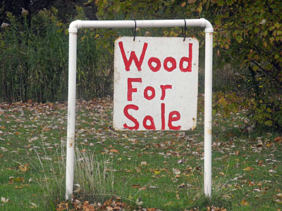 Wood For Sale Sign