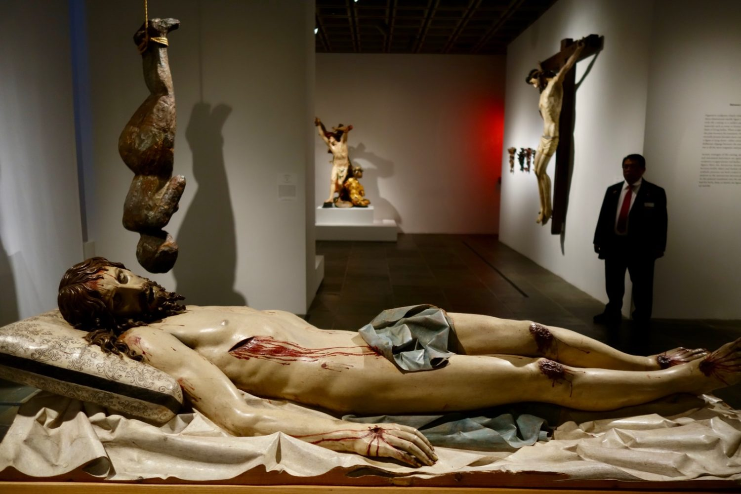 "Dead Christ statue as seen in ""Like Life"" show at the 2018 Met Breuer"