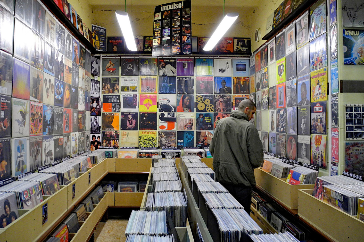Record store in Madrid