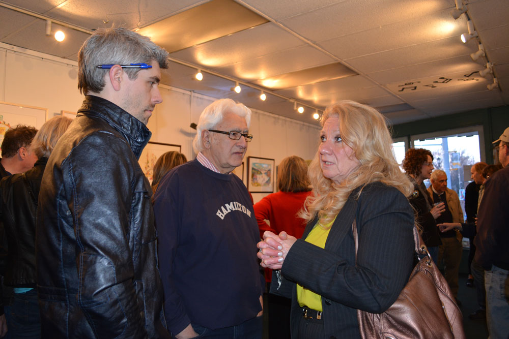 """""""3 Ds in Dodd"""" opening photos. I-Square Gallery 2014"""