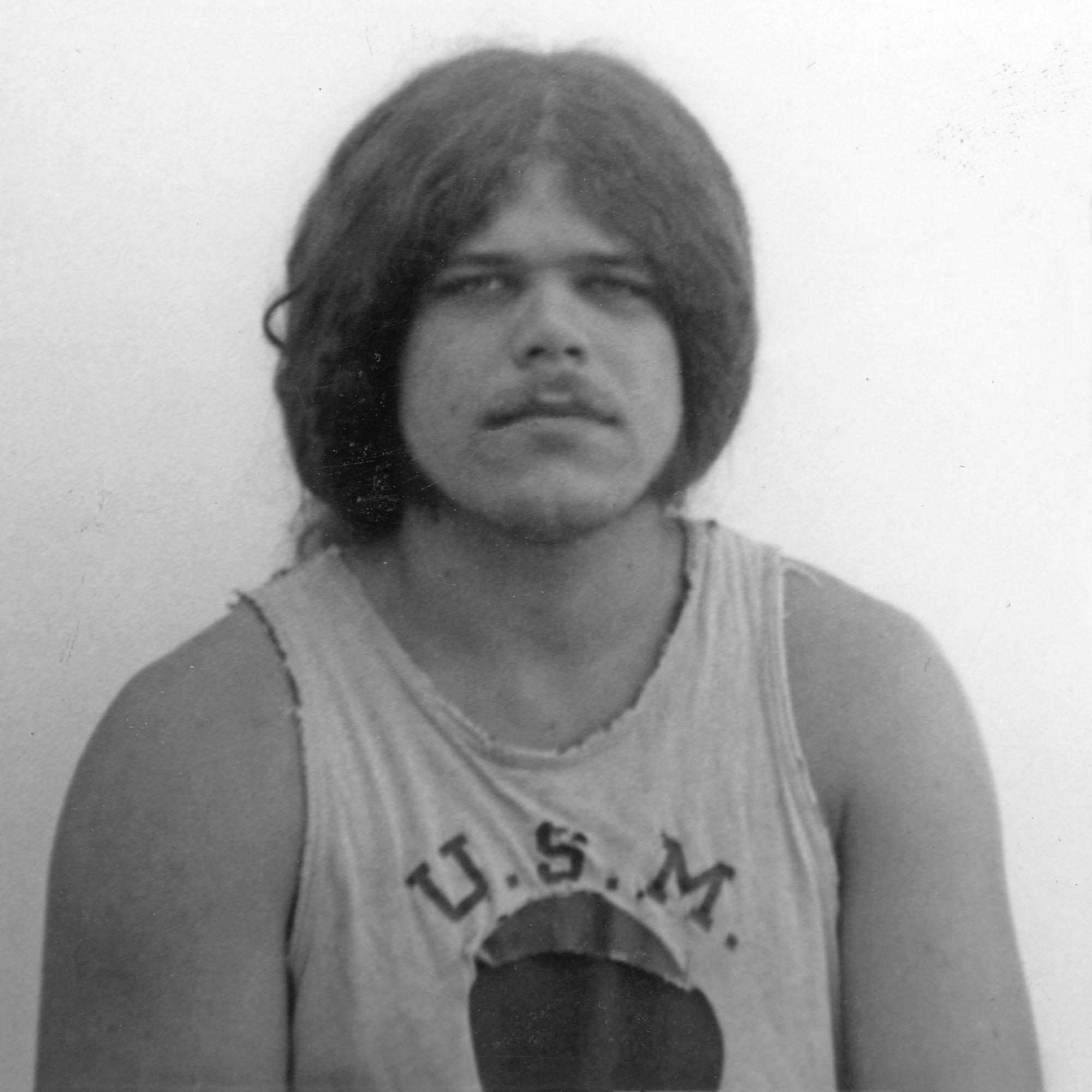 Brad Fox, Bloomington mugshots by Paul Dodd 1971
