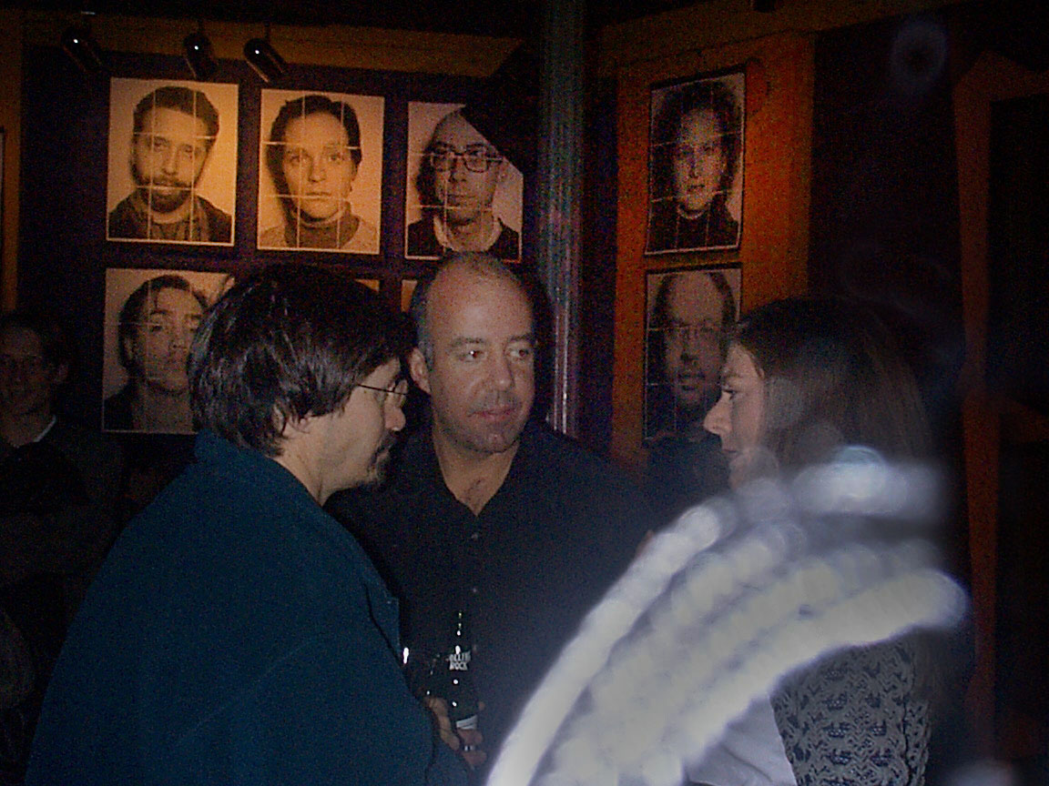 Frank Petronio, Kerry and Claire at Paul Dodd Mugshot Show opening, Bug Jar, Rochester New York 1998