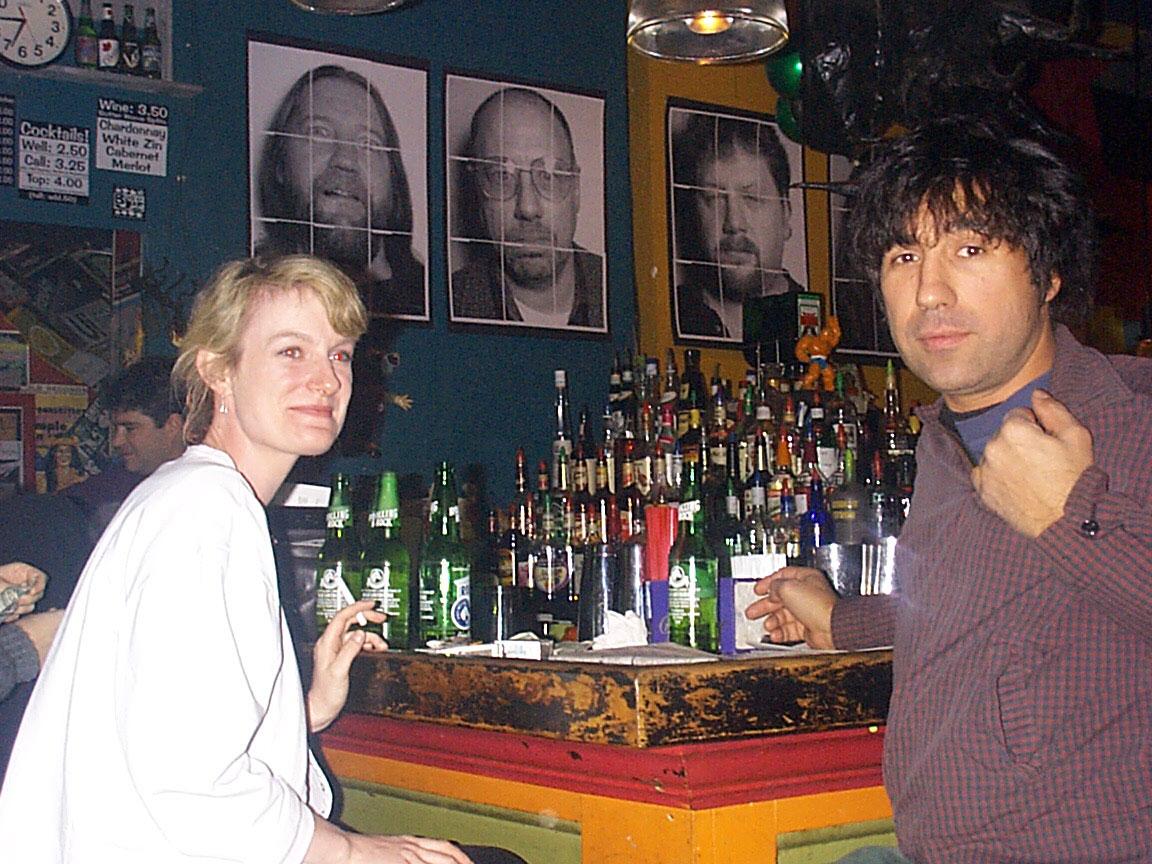 Joff and Sara at Paul Dodd Mugshot Show opening, Bug Jar, Rochester New York 1998