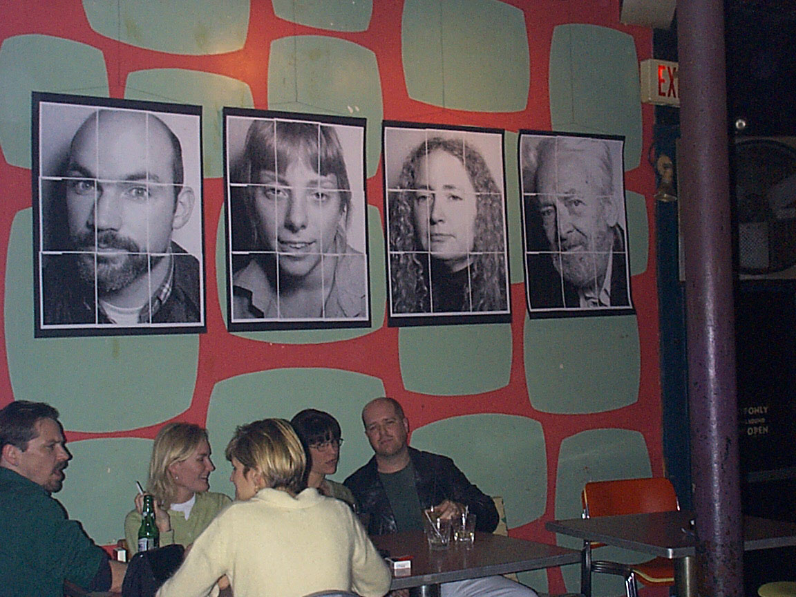 Bar crowd at Paul Dodd Mugshot Show opening, Bug Jar, Rochester New York 1998