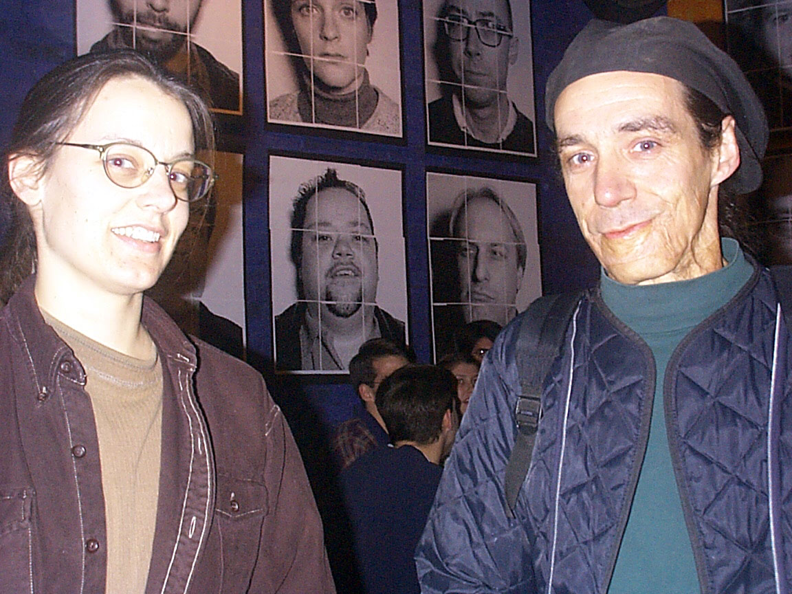 Judy and Michael Barone at Paul Dodd Mugshot Show opening, Bug Jar, Rochester New York 1998