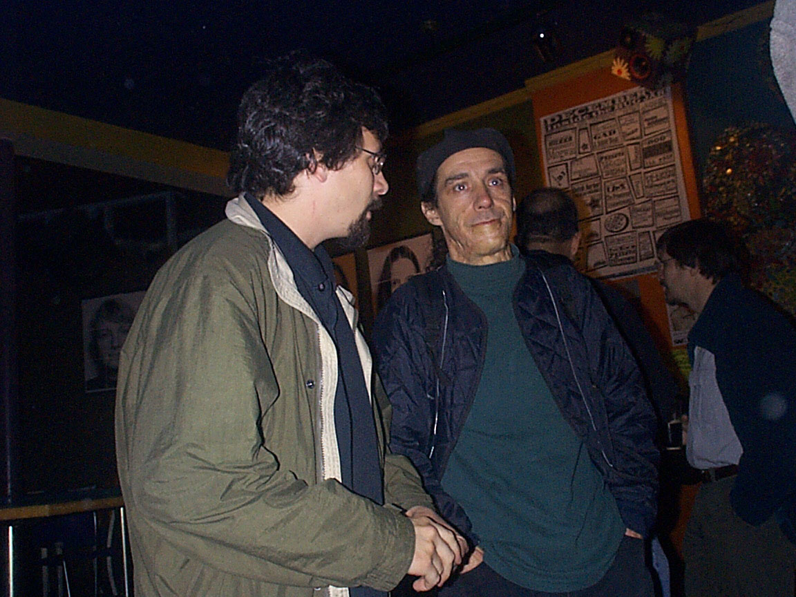 Michael Rizzo and Michael Barone at Paul Dodd Mugshot Show opening, Bug Jar, Rochester New York 1998