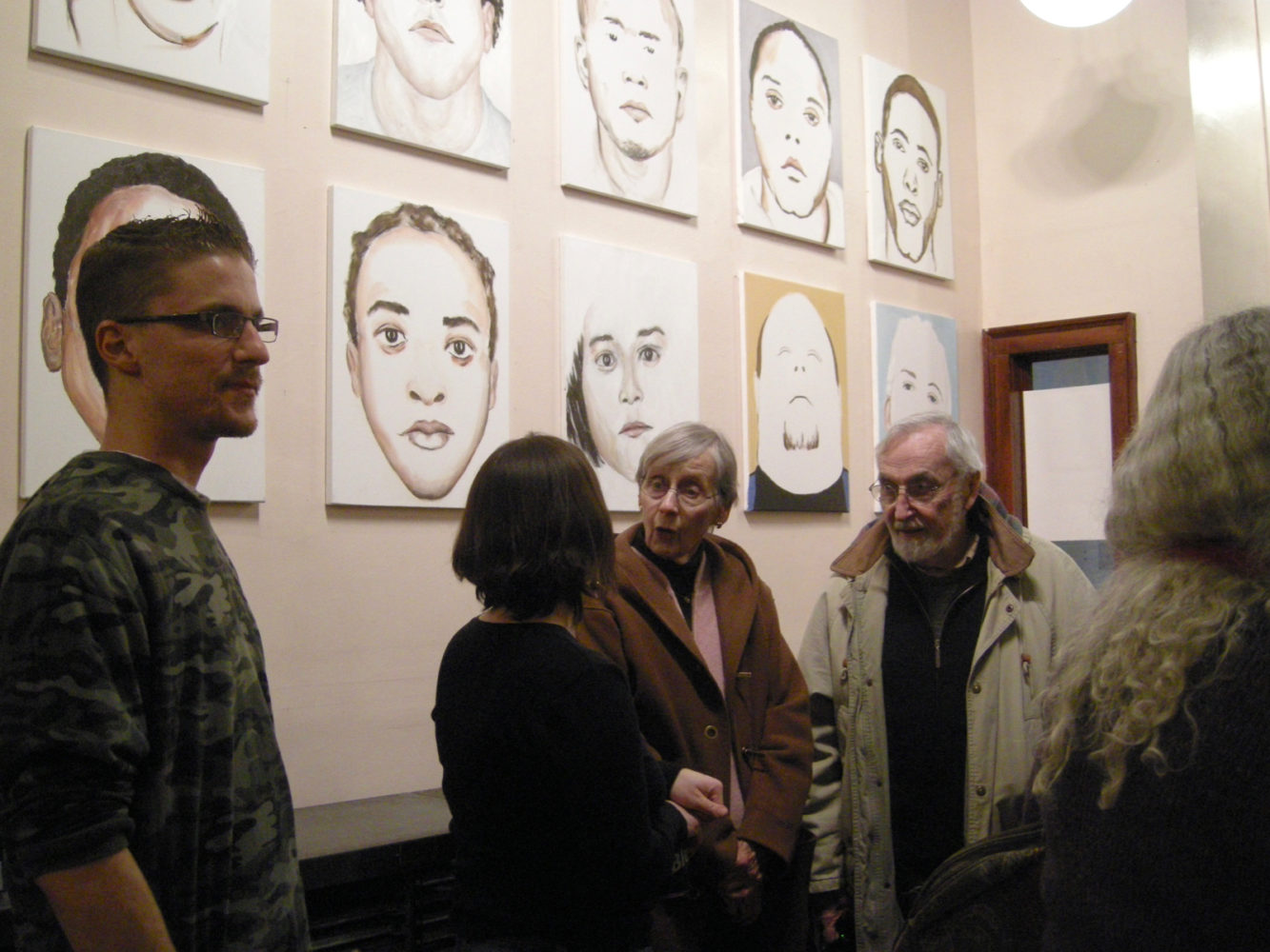 "Leo and Mary Dodd at opening of Paul Dodd ""Local Crime Faces 2009"" at Printing Book Arts Center 2009"