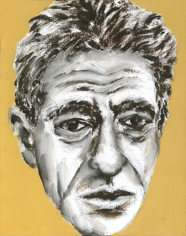 "Paul Dodd ""Artist Heads"" series 2000 - Giacometti"