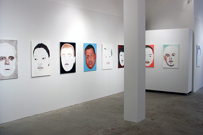 Installation shot of Paul Dodd Painting Show at Rochester Contemporary, September 2004