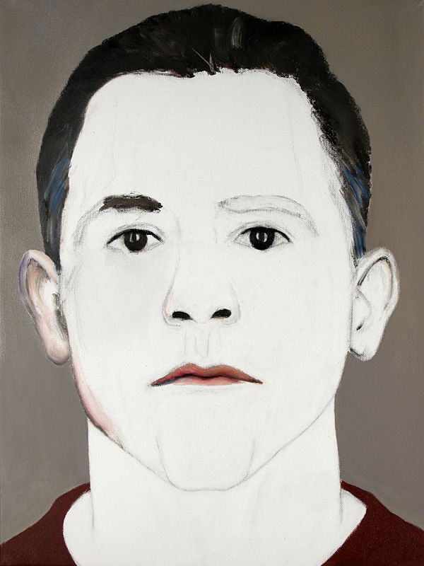 "Paul Dodd ""Model From Crime Page, 23"" 2008 18""w x 24""h each, oil on canvas"