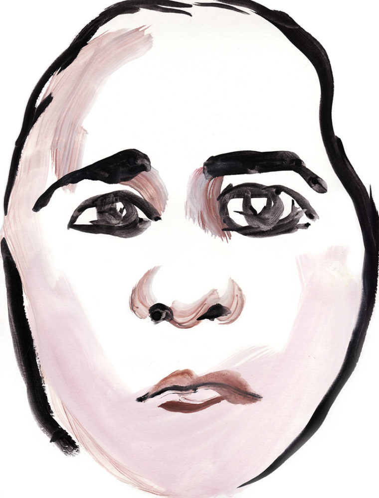 "Paul Dodd ""Model From Crime Page, 08"" 2011 watercolor on paper"