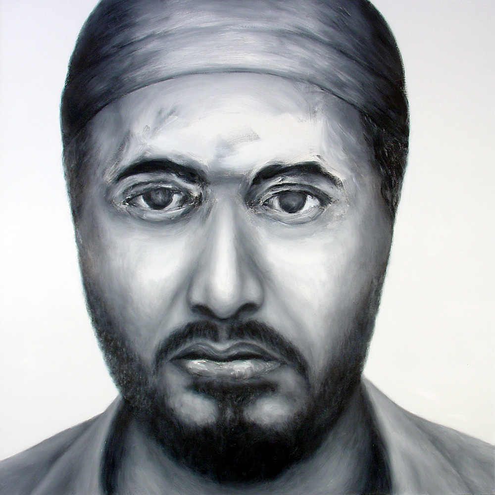 "Paul Dodd ""Terrorist"" 2005 oil painting on canvas 36""w x 36""h"