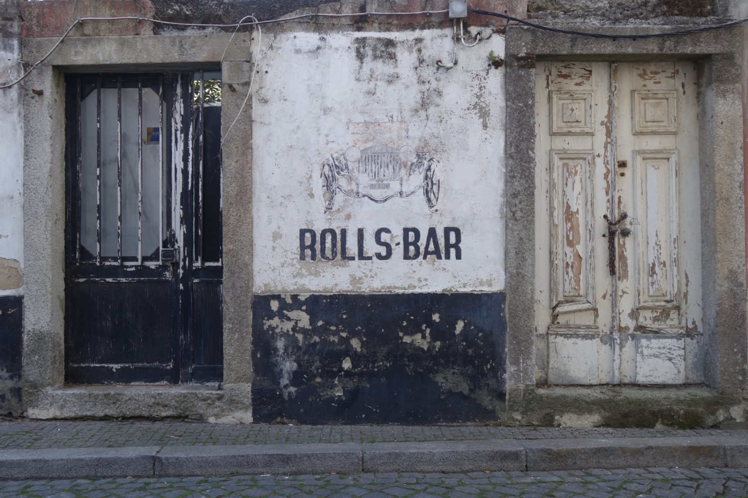 Rolls Bar in small town on coast of Portugal