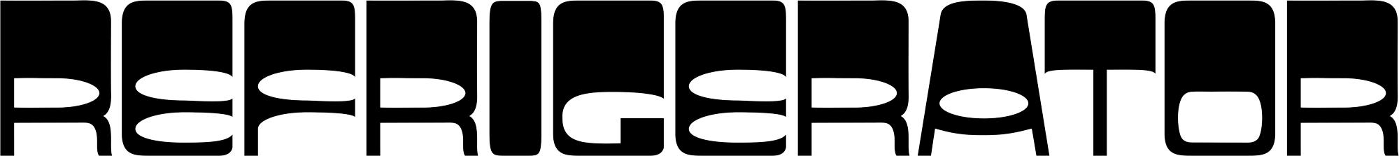 Refrigerator logo on white