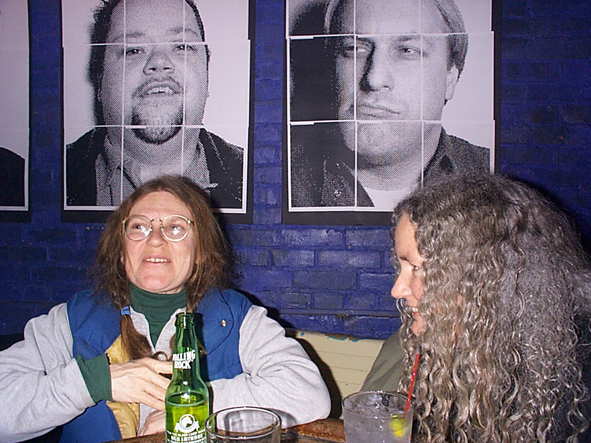Shelley and Geri McCormick at Paul Dodd Mugshot Show opening, Bug Jar, Rochester New York 1998