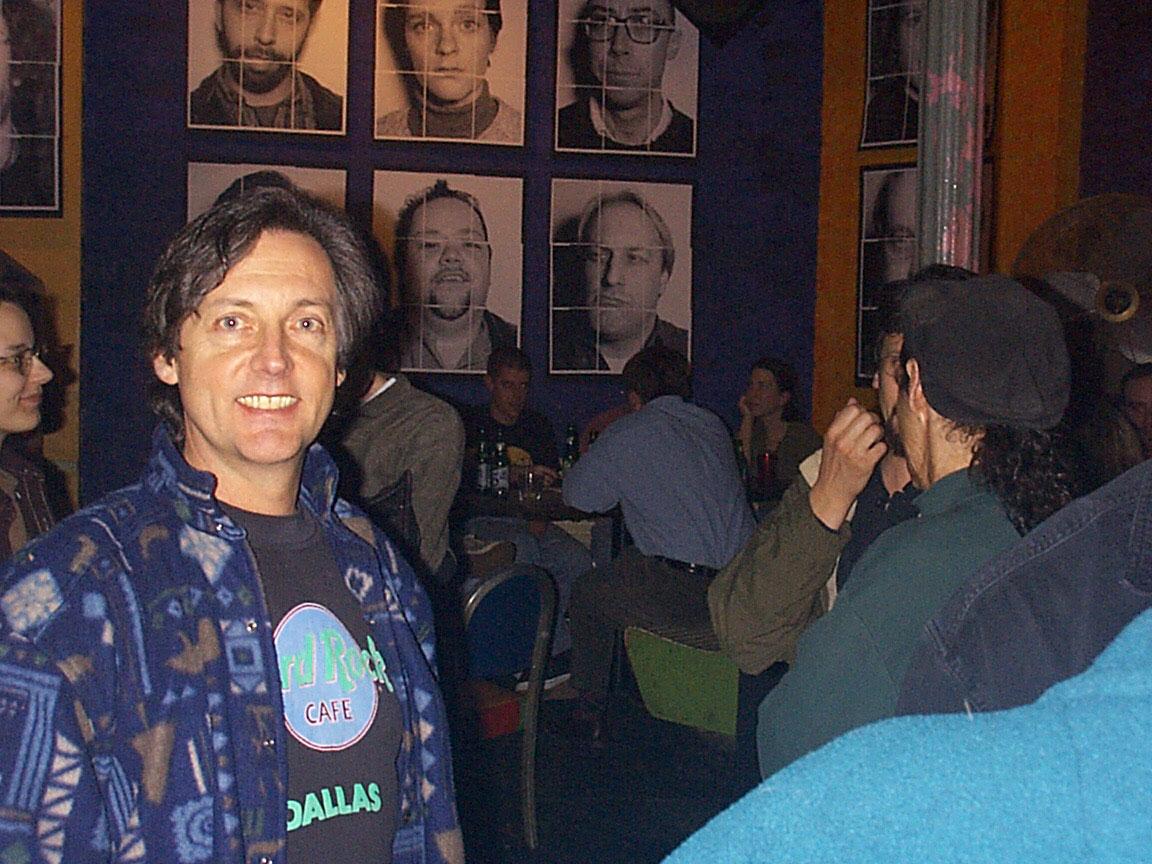 Tom Policano at Paul Dodd Mugshot Show opening, Bug Jar, Rochester New York 1998