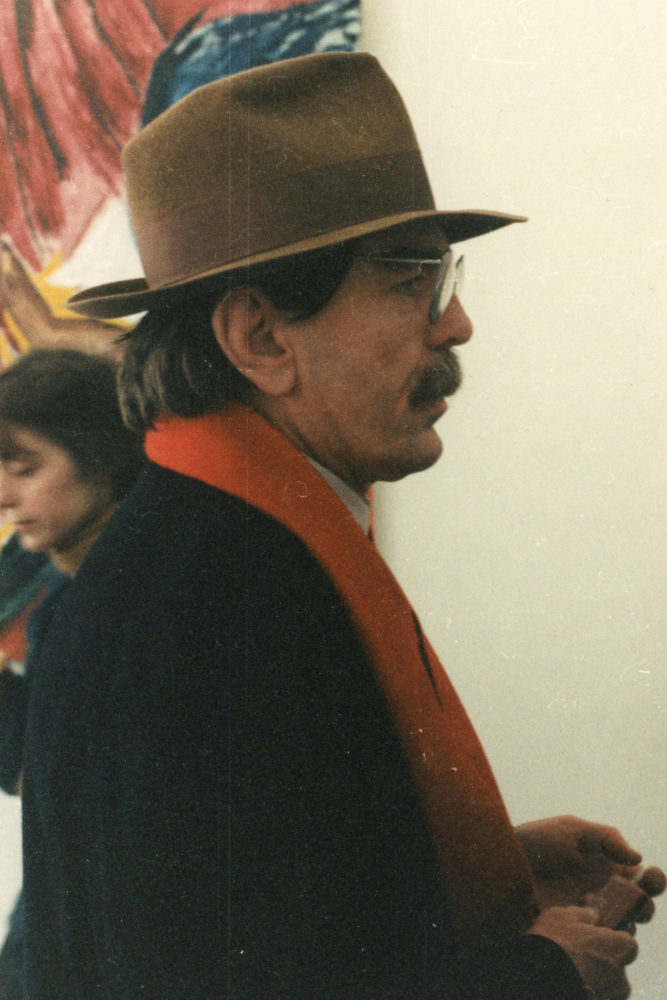Don Van Vilet (aka Captain Beefheart) at Michael Werner Gallery opening for show Don Van Vliet paintings 1995