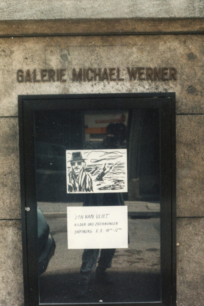 Michael Werner Gallery opening for show Don Van Vliet paintings 1995