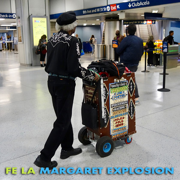 """Fe La"" by Margaret Explosion. Recorded live at the Little Theatre Café on 11.20.19. Peggi Fournier - sax, Ken Frank - bass, Phil Marshall - guitar, Bob Martin - guitar, Paul Dodd - drums."