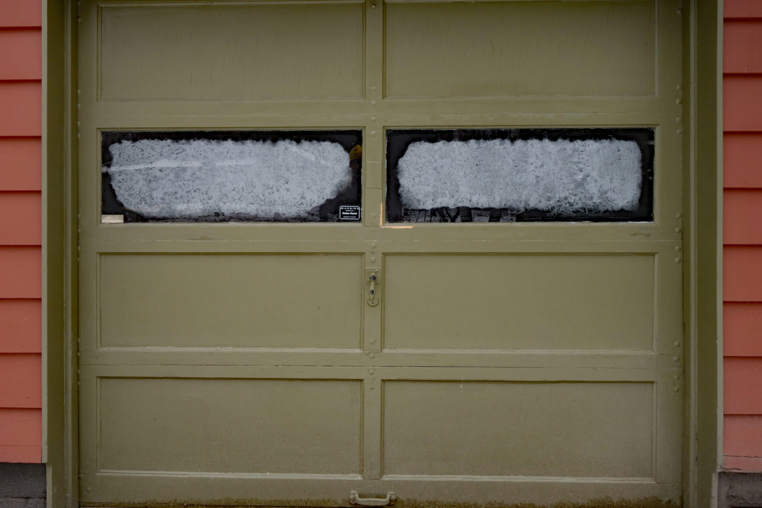 Rick and Monica's garage door in Winter
