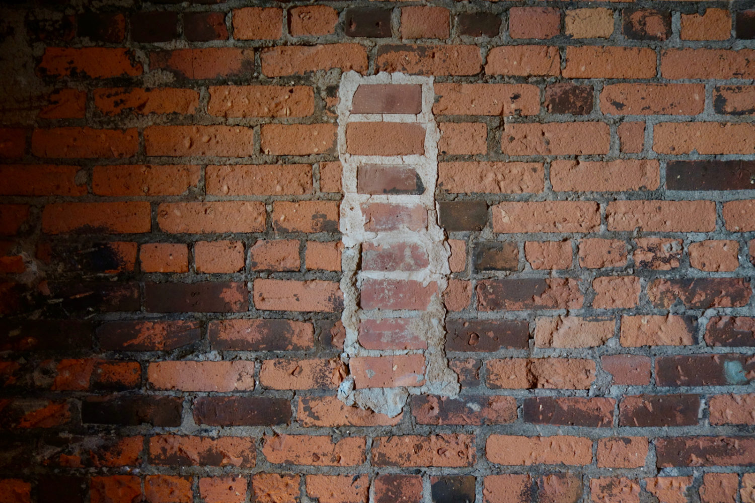 Brick wall at Trata in Culver Road Armory
