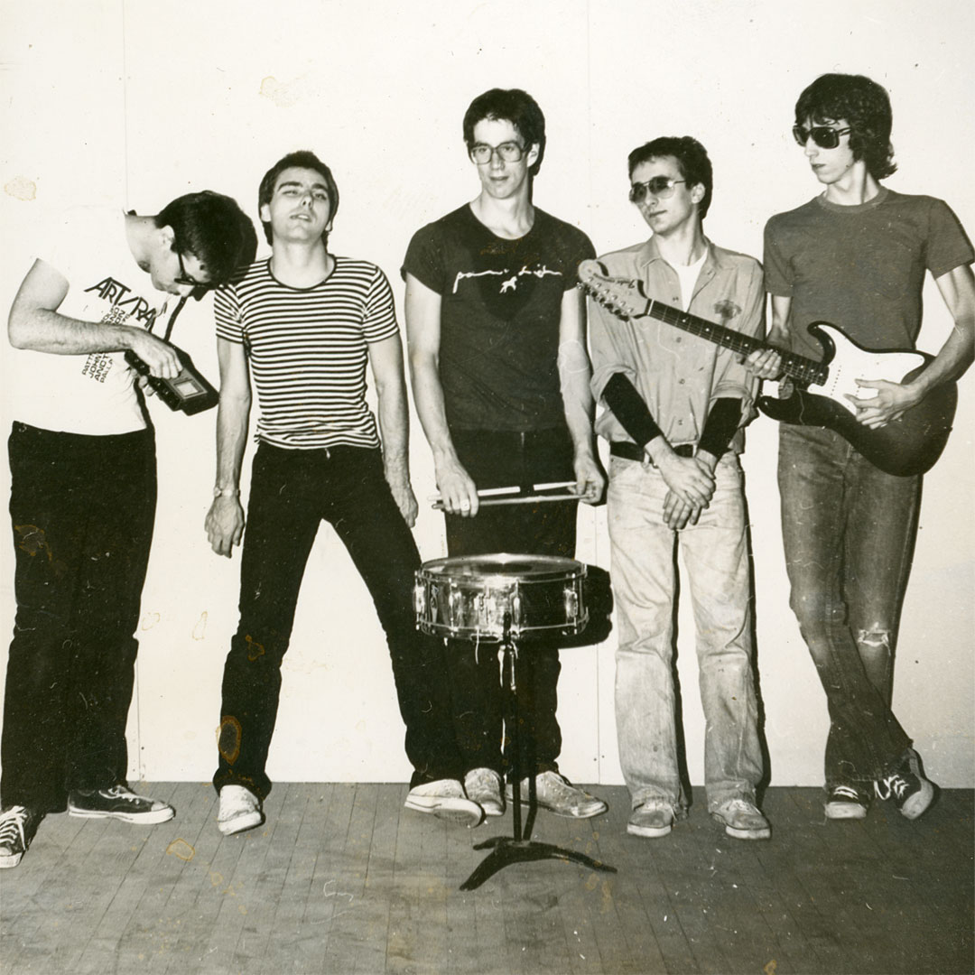 New Math band photo by Corine Atias 1977