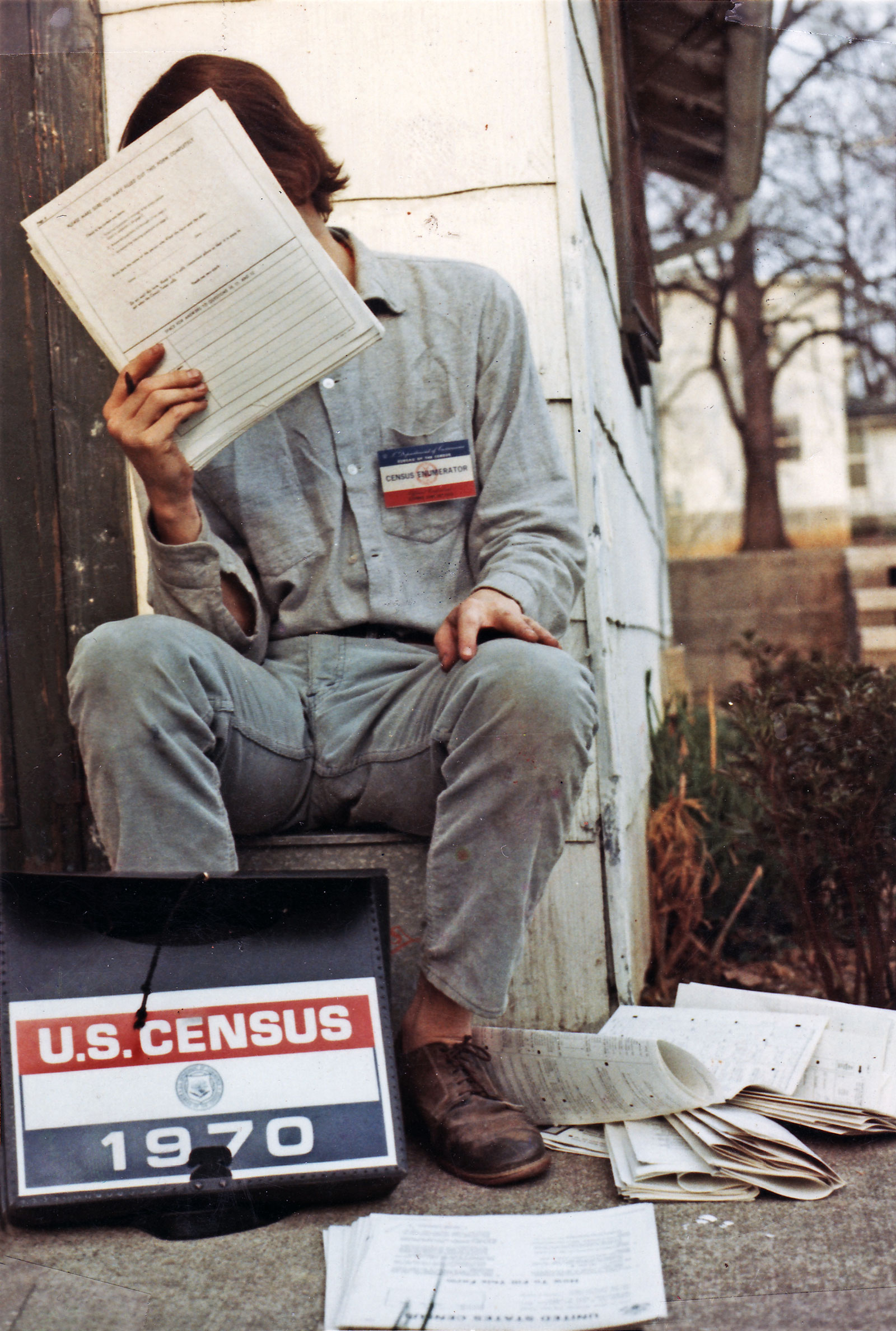 Paul taking the 1970 Census in Bloomington, Indiana