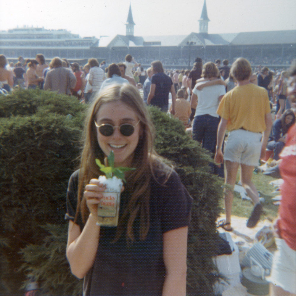 Peggi with Mint Julep at the Kentucky Derby 1973