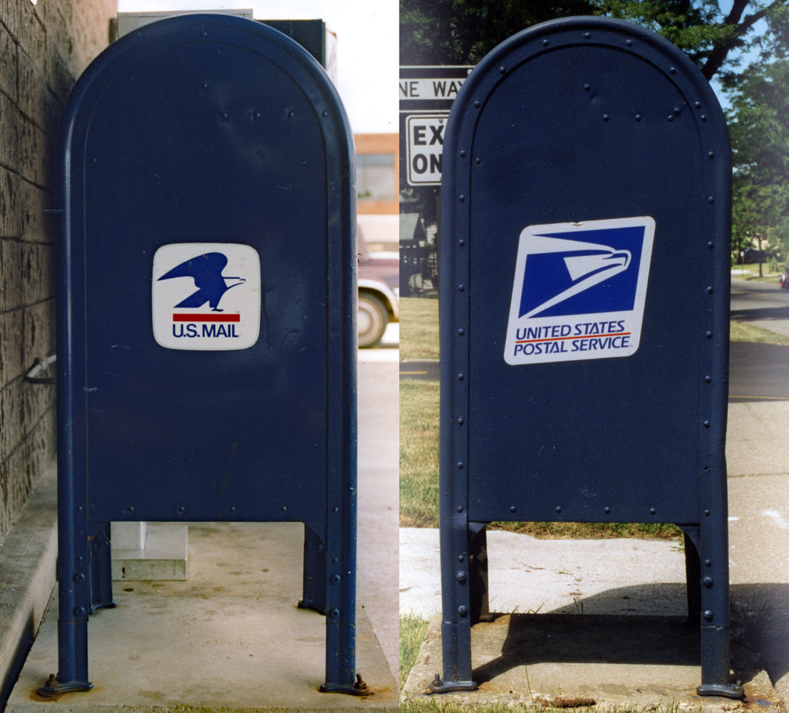US mailboxes old and new