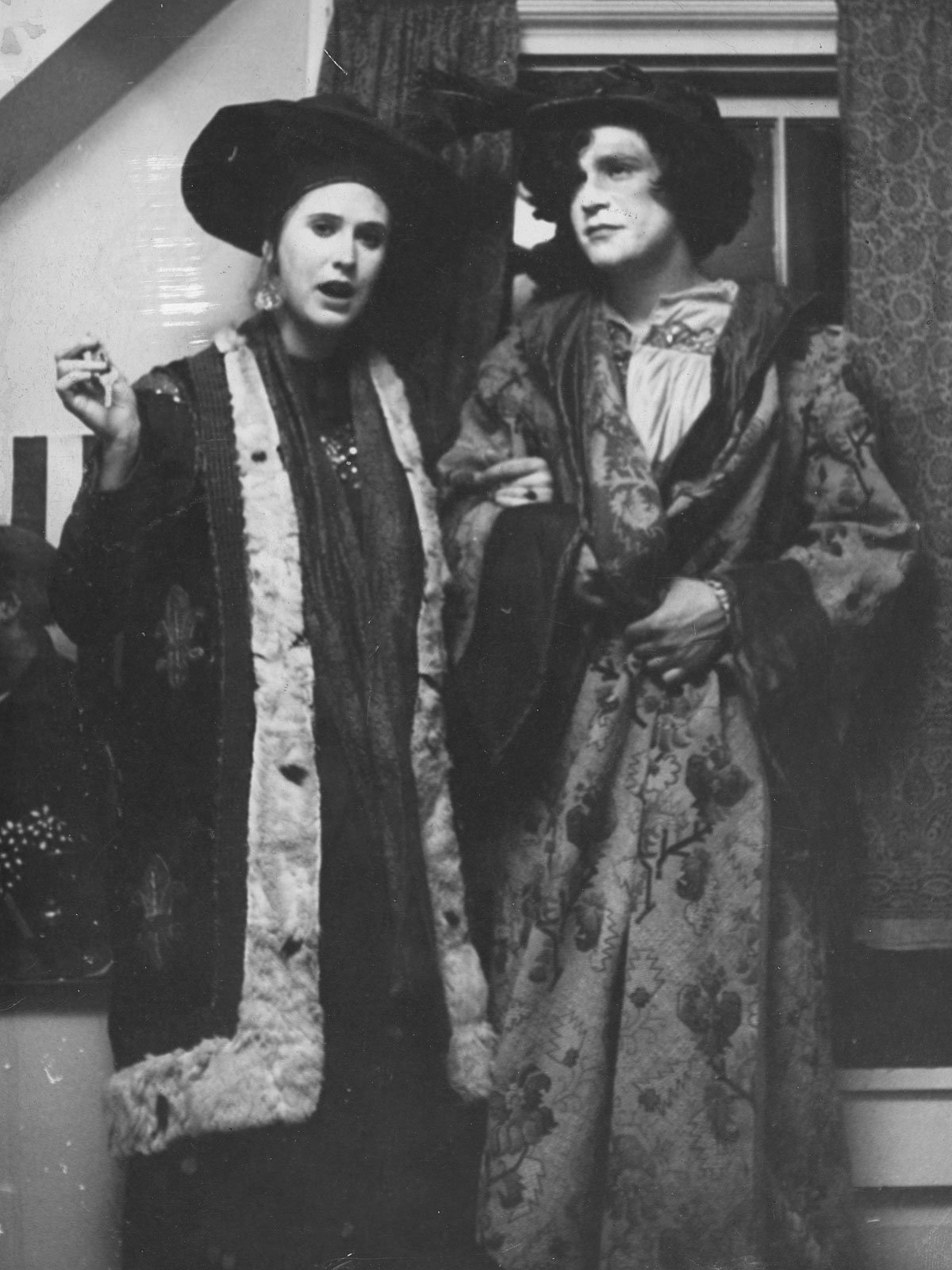 Mary Flower and Jay Schuff in costume