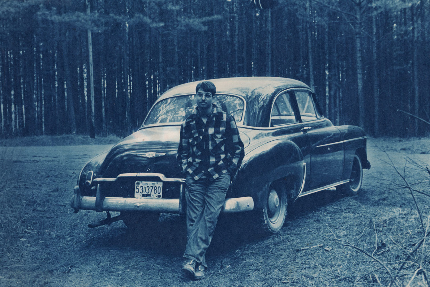 Norm Ladd with 1949 Chevy. Photo by Kim Torgerson.