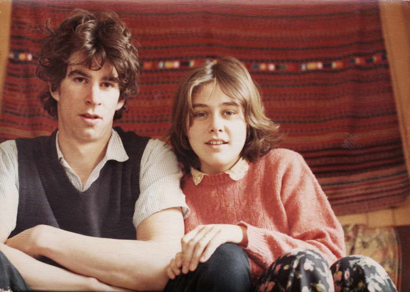 Paul and Peggi in Milton house 1973