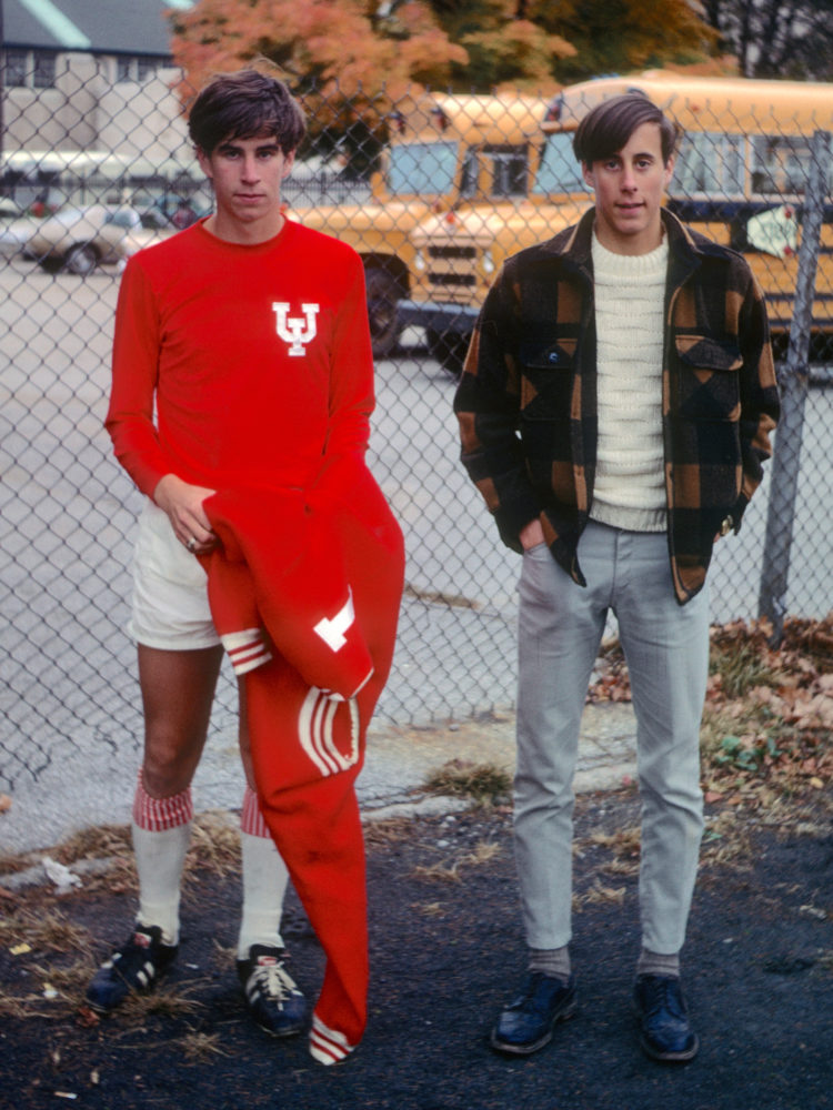 Paul playing soccer at IU in the old football stadium vs. St. Louis 1968. Photo by Leo Dodd.