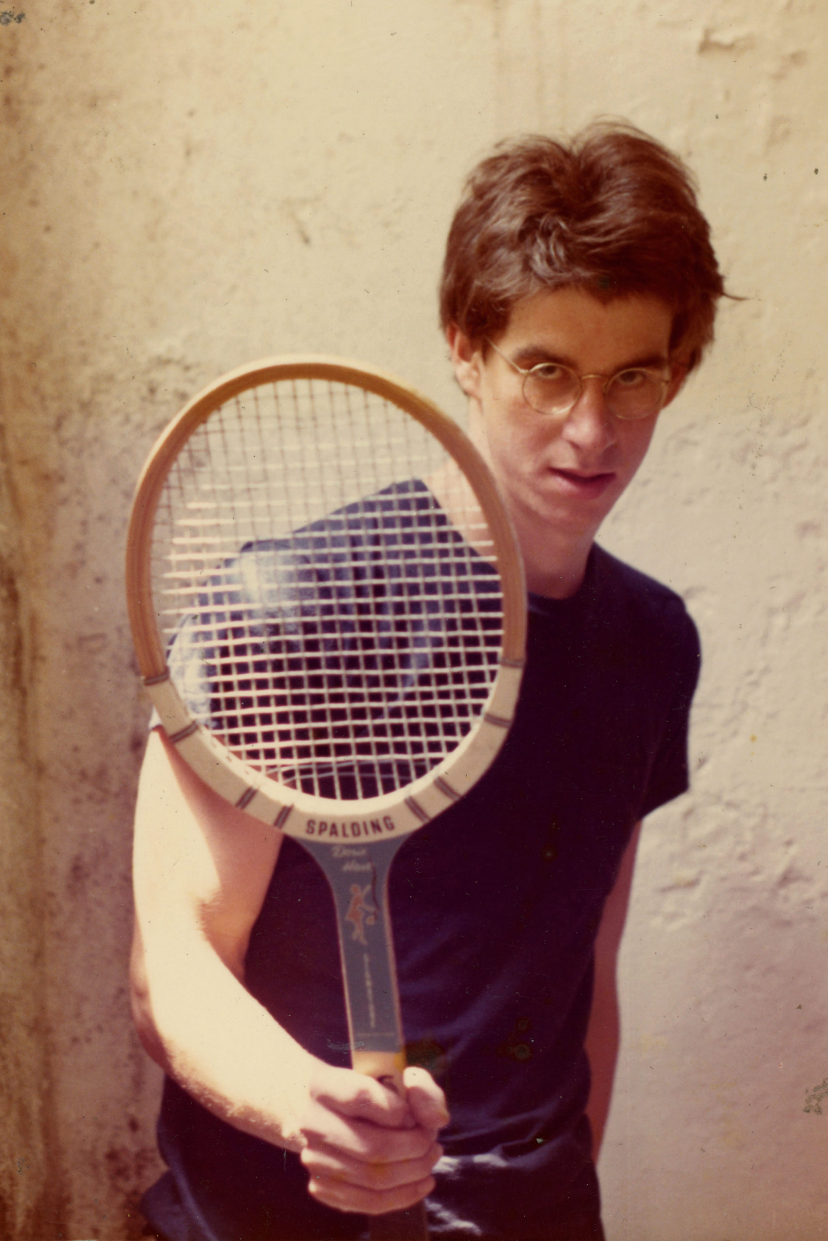 Rich posed me for this photo with tennis racket