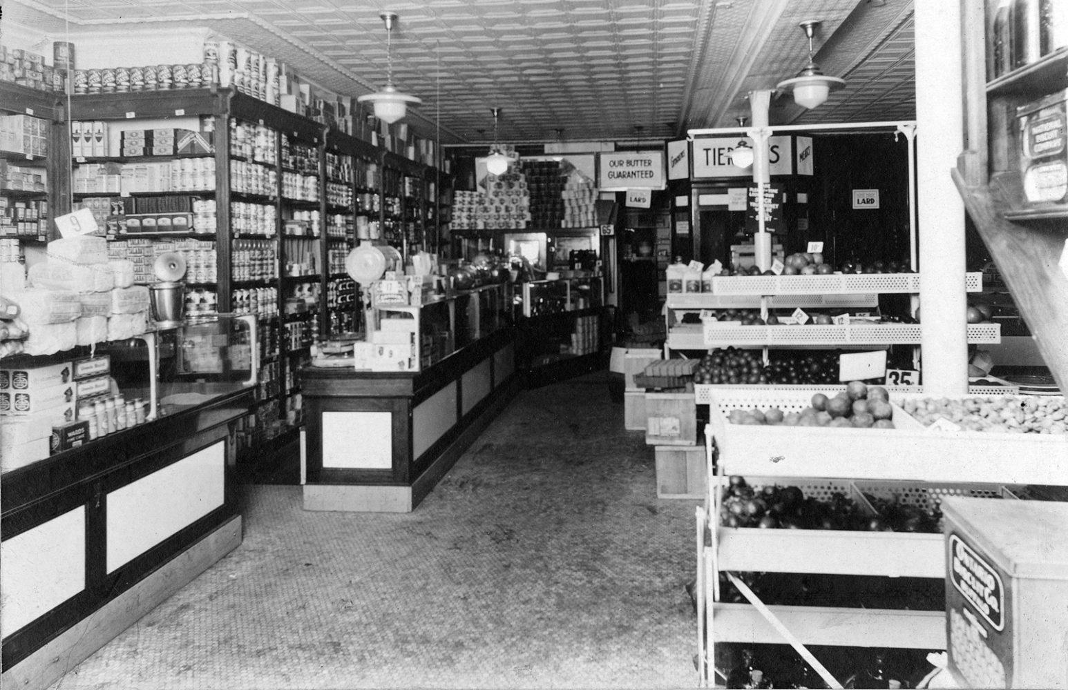 Inside Tierney Market 321 North Street Rochester 1930