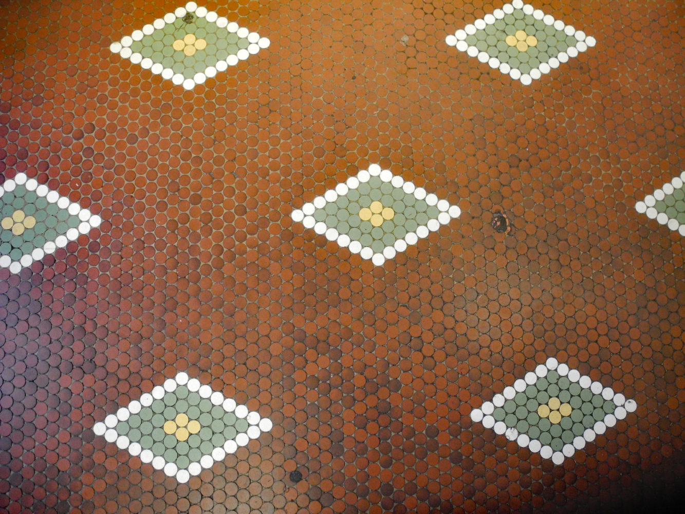 Tierney Market tile floor at 999 South Clinton Avenue in Rochester, New York