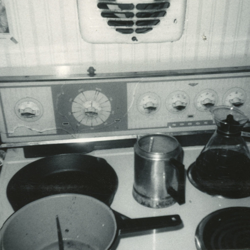 Stovetop in the kitchen at the trailer