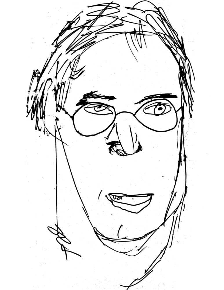 Steve Hoy drawing of Paul Dodd
