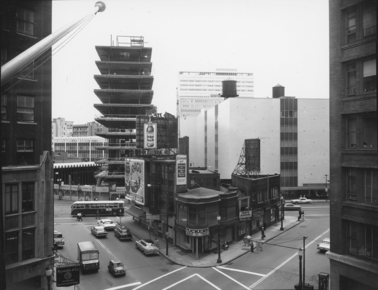 Security Trust Bank Construction - photo from City of Rochester 1963