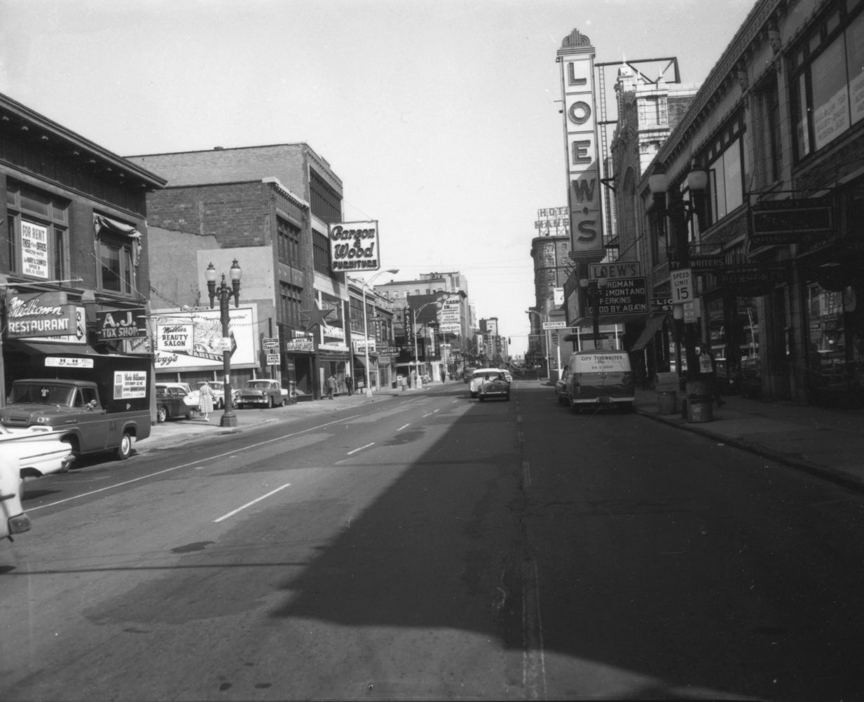 South Clinton Avenue downtown. Leon's Typewriter is shown on the left. - photo from City of Rochester